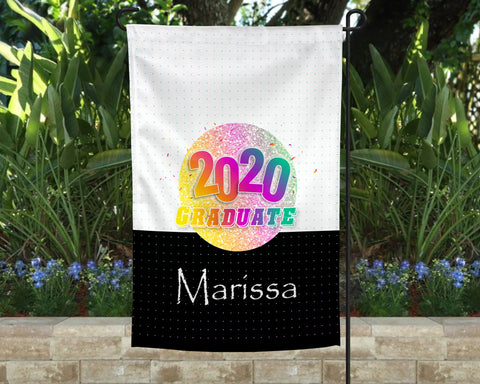 Color Celebration Personalized Garden Flag