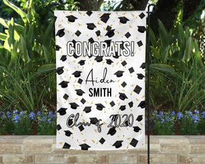 Hats Off Personalized Garden Flag