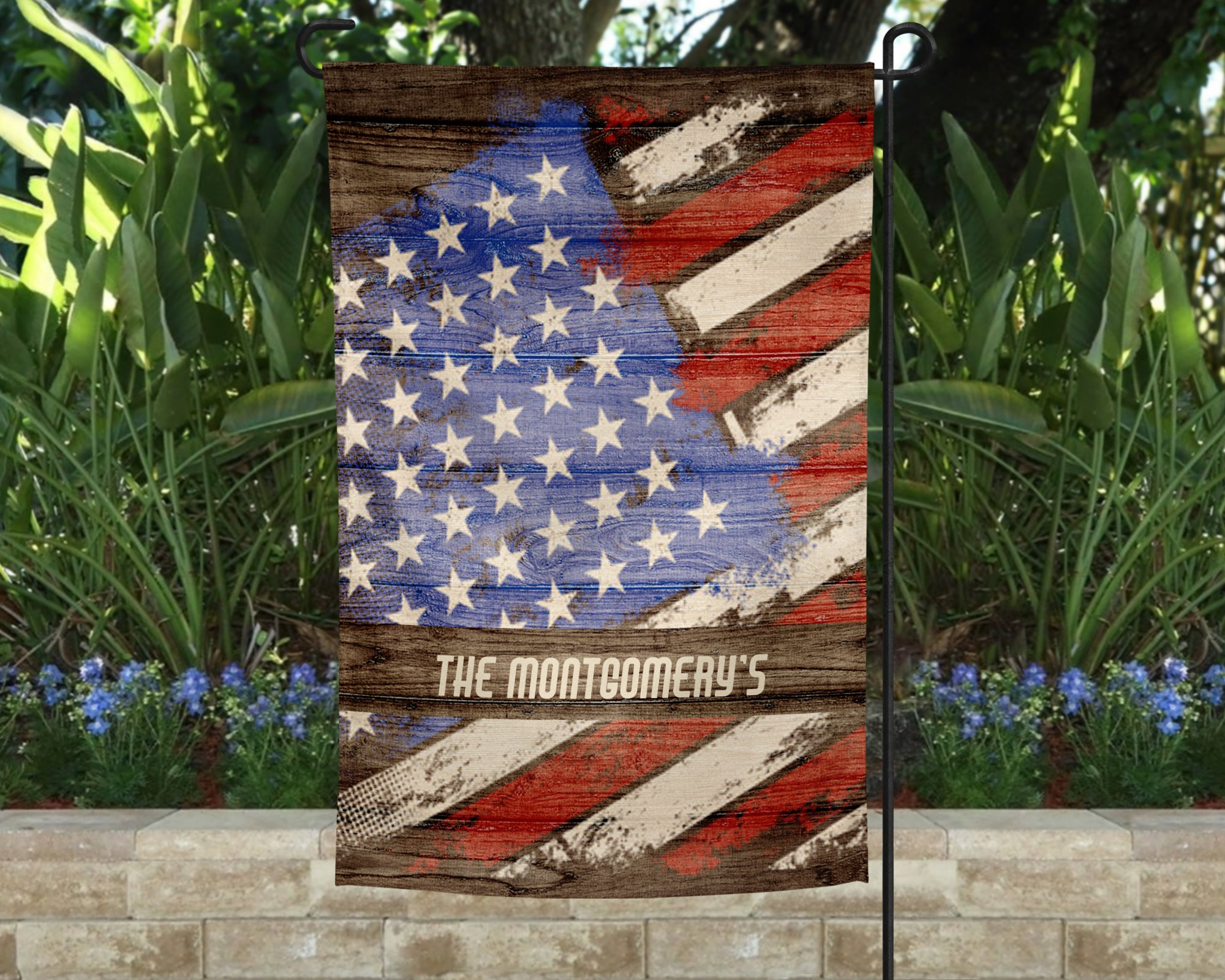 USA Personalized Garden Flag