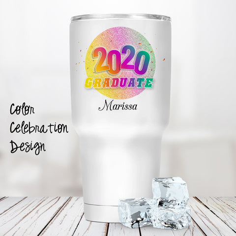 Color Celebration Personalized Insulated Tumbler
