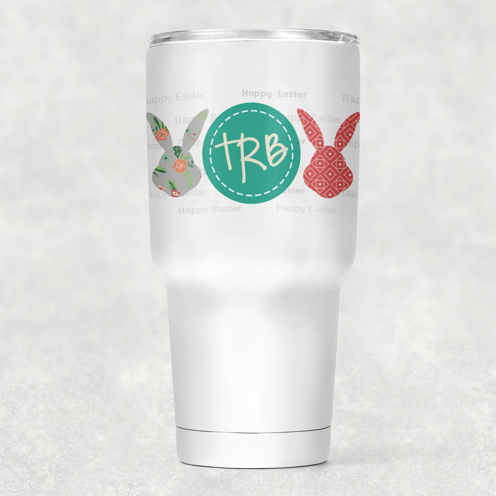 Flower Bunny Personalized Insulated Tumbler