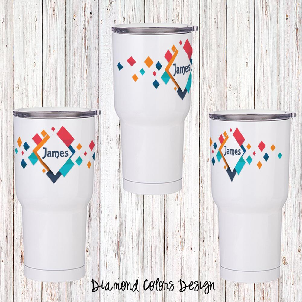 Diamond Colors Personalized Insulated Tumbler
