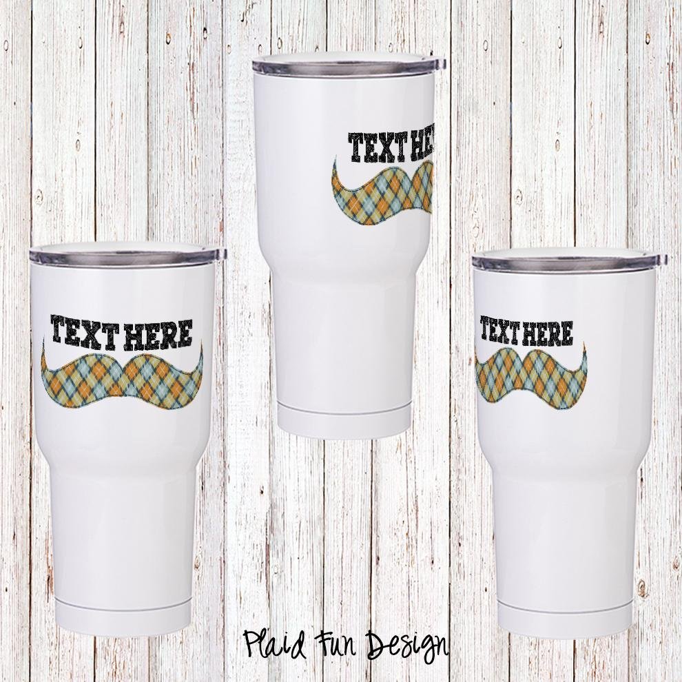 Plaid Fun Personalized Insulated Tumbler