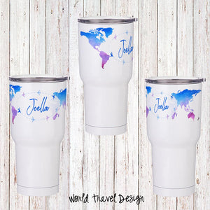World Travel Personalized Insulated Tumbler