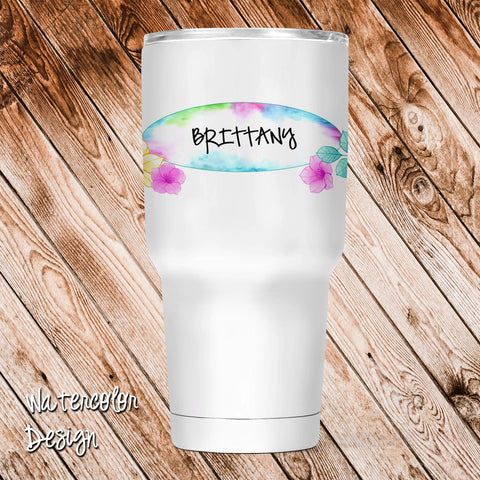 Watercolor Personalized Insulated Tumbler