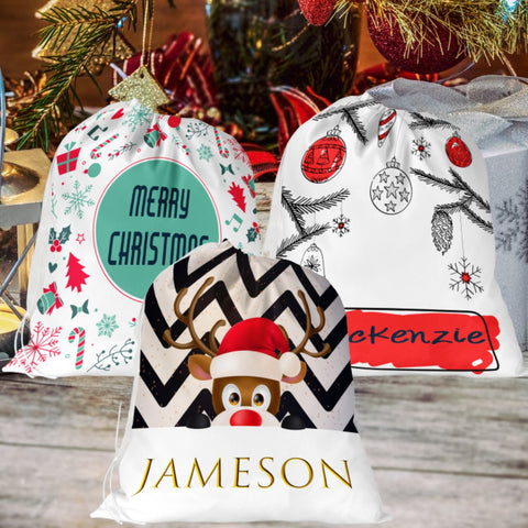 Personalized Santa Sack Gift Bag