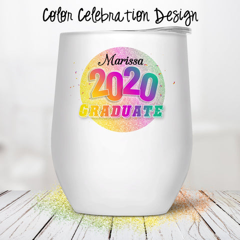 Color Celebration Custom Stemless Wine Glass