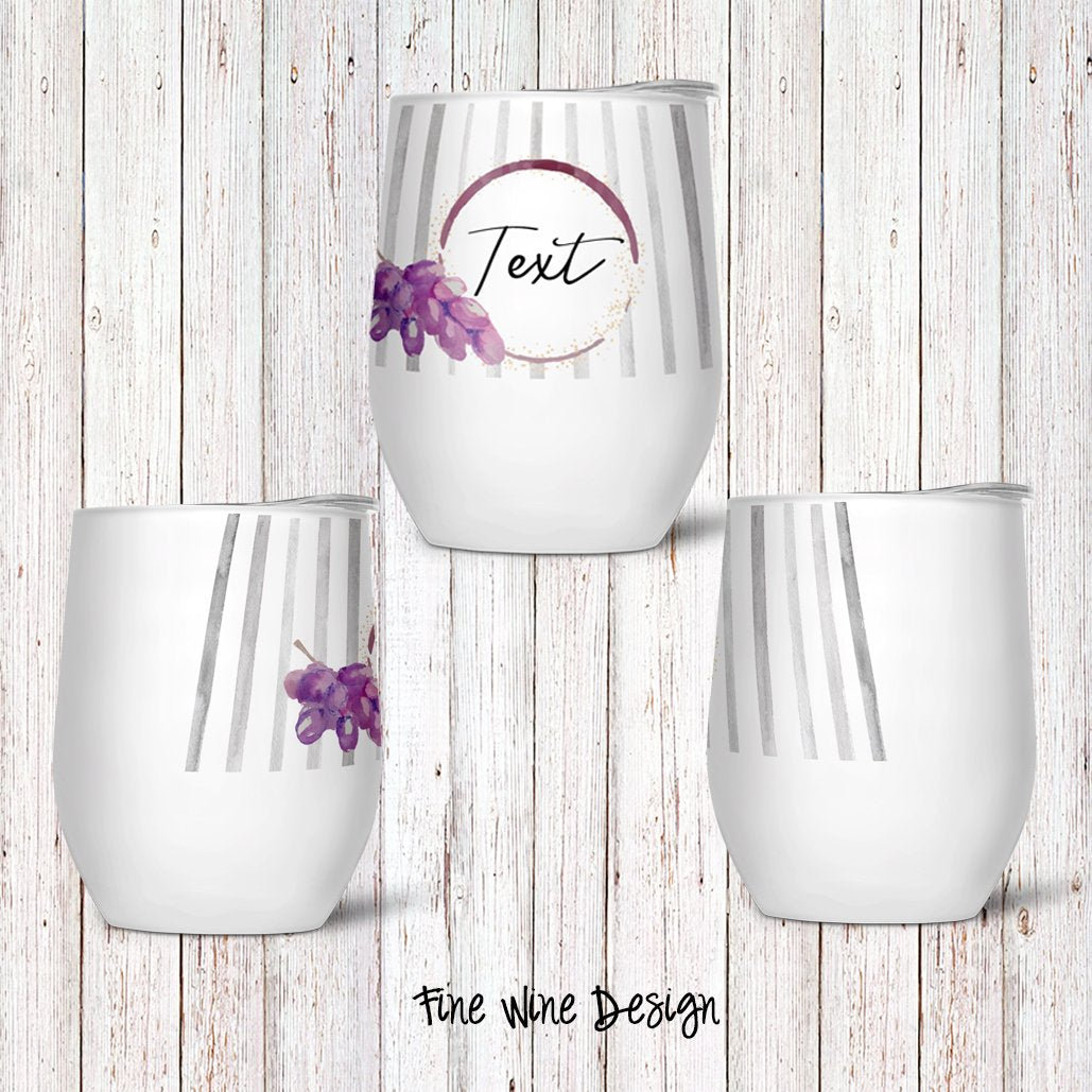 Fine Wine Custom Stemless Wine Glass