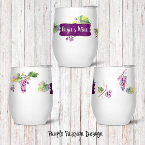 Purple Passion Custom Stemless Wine Glass