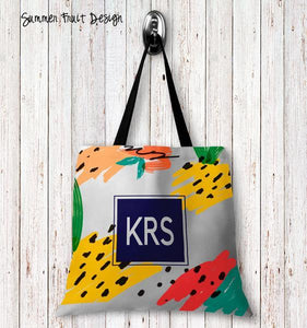 Summer Fruit Personalized Tote Bags - 3 Sizes to Choose From
