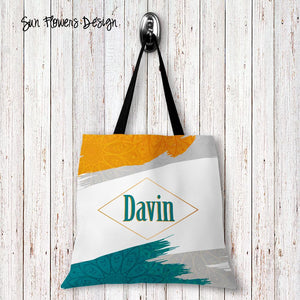 Sun Flowers Personalized Tote Bags - 3 Sizes to Choose From