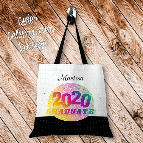 Color Celebration Personalized Tote Bags - 3 Sizes to Choose From