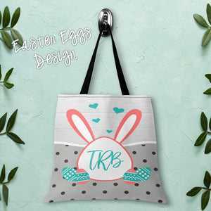 Easter Bunny Personalized Tote Bags - 3 Sizes to Choose From