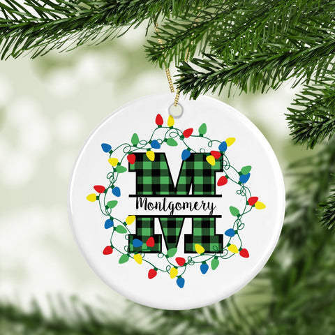 Personalized Ceramic Circle Ornaments - Buy One Get One 50% OFF