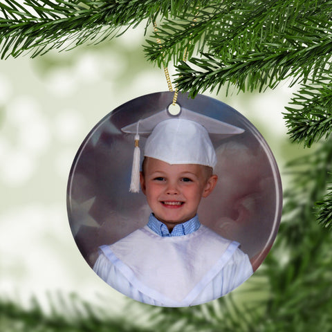 Add Your Photo Ceramic Ornament - Buy One Get One 50% OFF