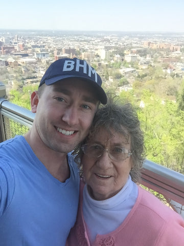 Picture of Infinite Soaps Owner, Christopher Funderburk with his grandmother