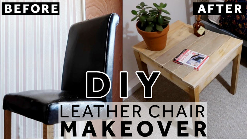 before and after leather chair makeover
