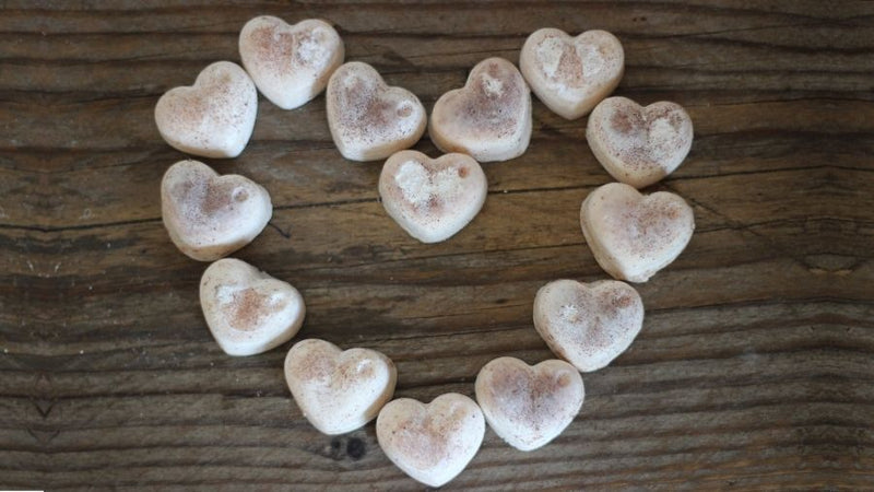 Organic Soy Wax Candle Heart Melts