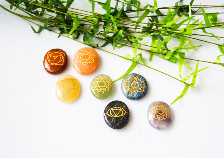 Chakra stones - Throat, crown, root, solar plexus and more