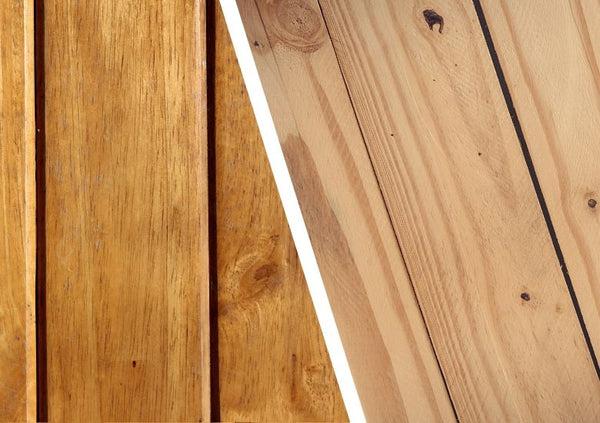Varnished wood vs Natural Finish