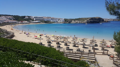 beach in menorca spain