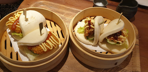pumpkin & chicken karage steamed buns
