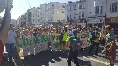 group of Brighton protestors climate crisis