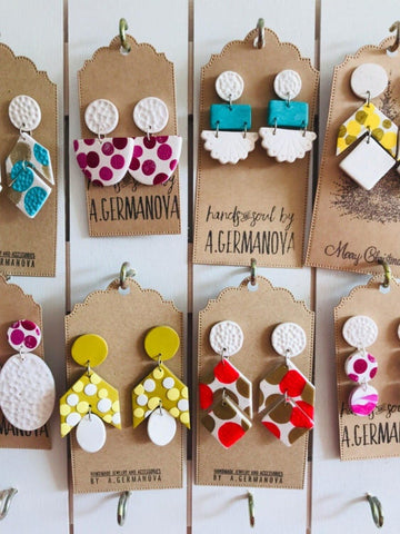 handmade polymer clay earrings by Hands and soul