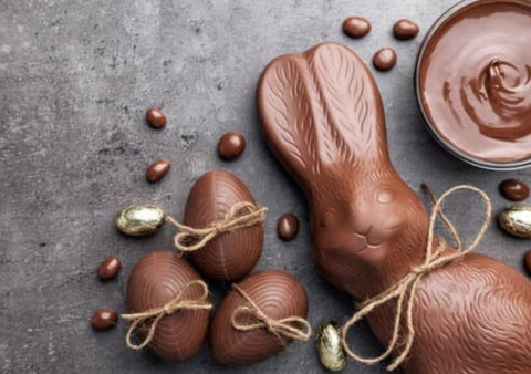 chocolate for easter bunny and eggs