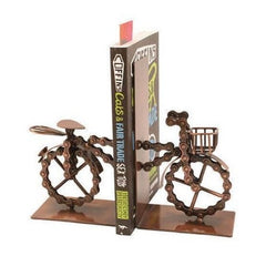 Recycled bike bookends