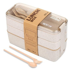 Wheat lunch box containers (3in1)