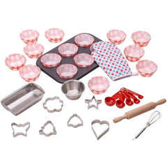 Young chef baking set