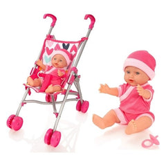 baby doll with buggy