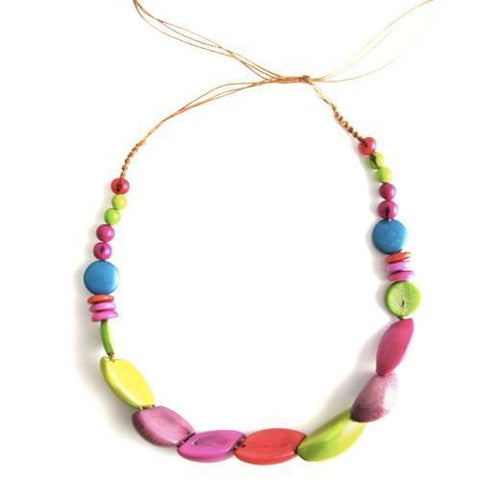 Tagua Seed Tubular Necklace 45cm