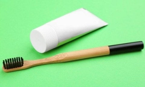 tooth paste and brush