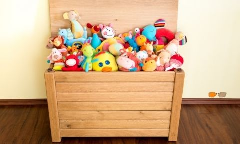toy box with toys