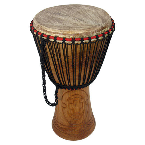 Ghanian Djembe Drum (60cm) - Carved Culture