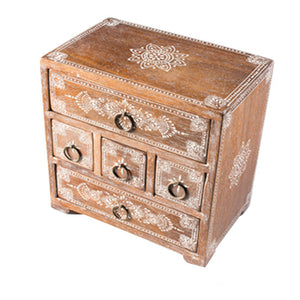 Multiple Drawer Mango Storage Chest - Carved Culture
