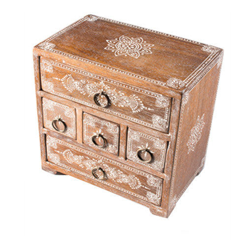 Mango Jewellery Chest - Carved Culture