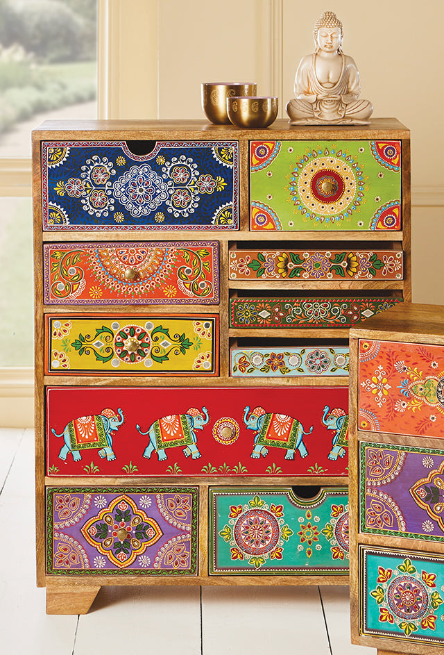Jaipur Cabinet Chest (10 Drawer)