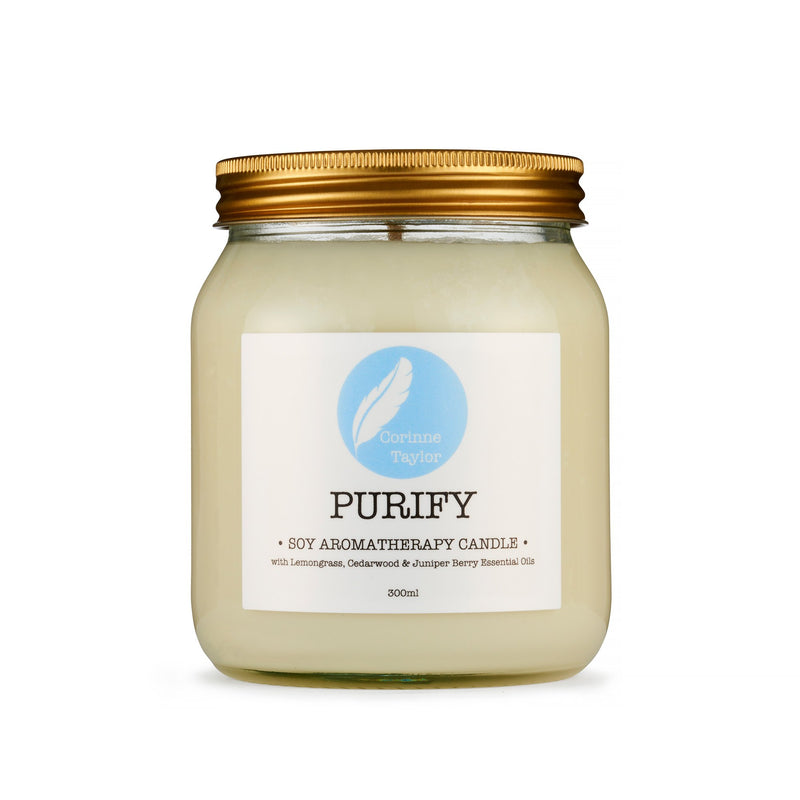 Purify Soy Aromatherapy Candle - Carved Culture