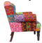 Multi Patch Embroidered Armchair - Carved Culture