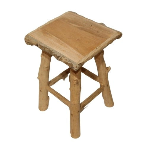 top of a coffeewood stool