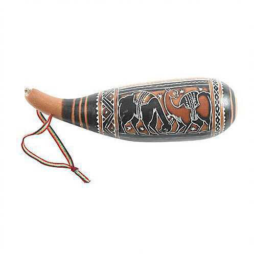 Gourd Guiro Shaker Rattle - Carved Culture