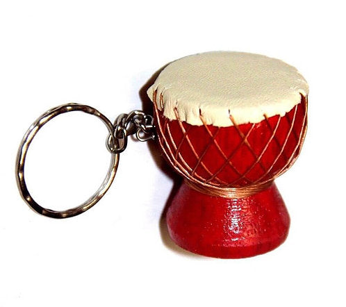 Djembe Drum Keyring - Carved Culture