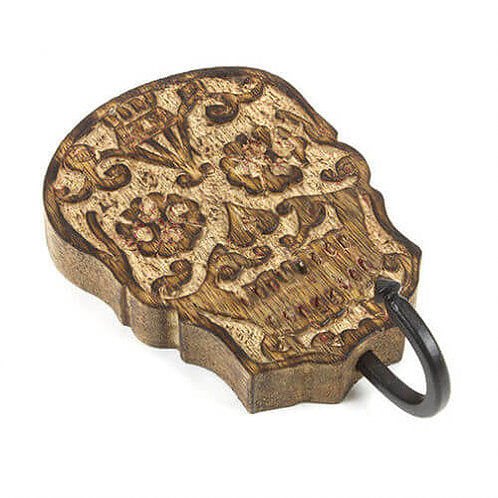 Skull Coat Wall Hook - Carved Culture