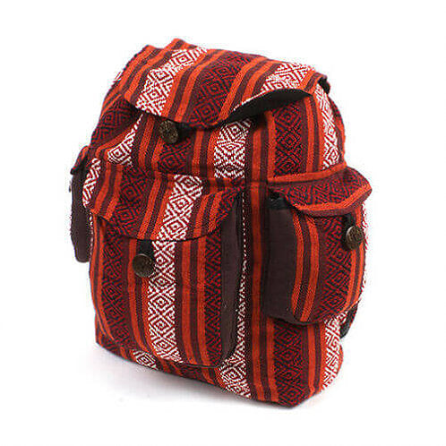 Gheri Backpack Bicycle Indian Cotton Bag - Carved Culture
