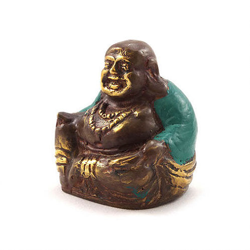 Bronze Laughing Buddha - Carved Culture