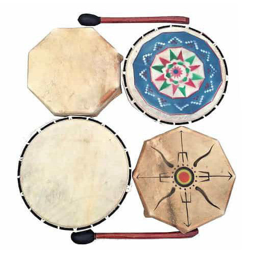 Shamanic Tribe Drum - Carved Culture