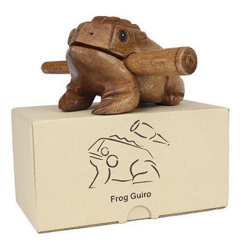 Croaking Frog Güiro - Carved Culture
